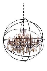 elegant lighting 1130g43db gt rc geneva 18 light crystal chandelier in dark bronze with royal cut