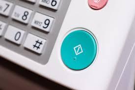 Control Panel Of Office Device Fax Machine Printer Copy Machine