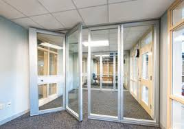 folding office partitions. Example Of Office Environment With Acoustically Rated Glass Folding Doors Inside A School Partitions L