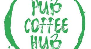The ribbon cutting marks the beginning of regular business hours. Pub Coffee Hub
