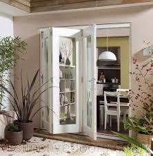 sliding patio door exterior. Jeldwen White Pained Bifold Folding Sliding Patio Doors 3 Door Large Exterior U