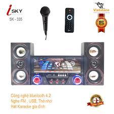 Bán Dàn âm thanh tại nhà - loa vi tính hát karaoke có kết nối Bluetooth USB  Isky - SK335U 2.1 chỉ 879.000₫