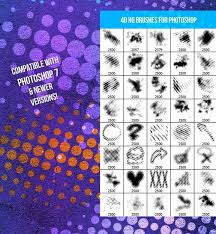4 40 halftone photo brushes