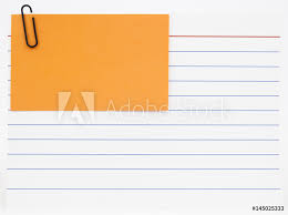 How To Print On An Index Card Photo Art Print Blue Lined Index Card With Orange Notecard