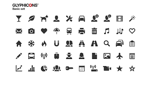 Sharp And Clean Symbols Glyphicons