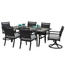 outdoor indoor 13 piece aluminum outdoor dining set with sunbrella beige cushions