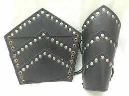 ancient arm guard bracers leather forearm guards meval roman vambraces pair m