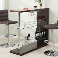 Image Glass Image Is Loading Modernpubhomecappuccinobartableunitw Diytrade Modern Pub Home Cappuccino Bar Table Unit W Glass Shelves Wine Rack
