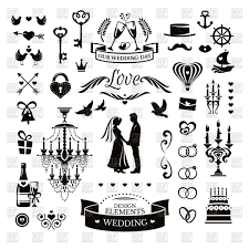 Free Download Vector Clipart Design Wedding Icons And Design Elements Stock Vector Image