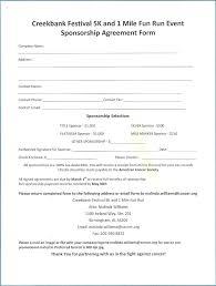 Sponsorship Contract Template Beauteous Sponsor Agreement Template Form Sponsorship Strand Vs Coding