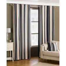 Curtain Red Black And White Curtains Brown Cream Striped Throughout ...
