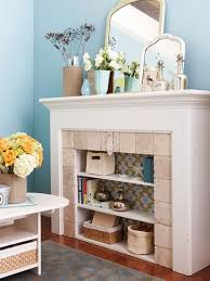 22 unused fireplace ideas - use it as a storage space, create personal  gallery, bookcase, create shelves, put a log in the fireplace etc.