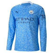 Manchester City Long Sleeve Home Shirt 2020/21