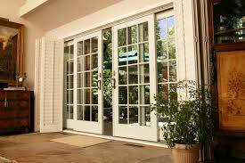 wood french patio doors with blinds glf home pros