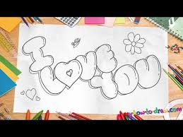 how to draw i love you in 3d bubble letters easy step by step drawing lessons for kids