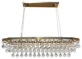 celeste 8 light oval glass drop chandelier brass
