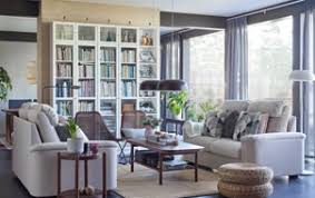 Rooms with white furniture Dark Wood Create Your Own Comfortable Living Room With Ikea Lidhult Beige 2seater Sofas With Ikea Living Room Furniture Inspiration Ikea