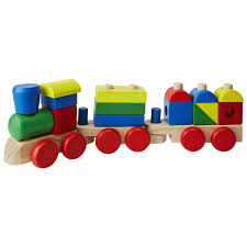 melissa doug wooden stacking train preschool toys meijer grocery pharmacy home more