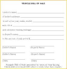 Free Downloadable Bill Of Sale Sample Bill Of Sale Template Emailers Co