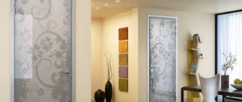 glass doors with flower pattern design