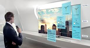 samsung 75 inch 4k tv. personalized daily brief feature in 75 inch smart flat tv samsung 4k