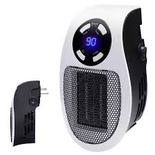 Handy Wall Space Heater - Plug-in Ceramic Mini Heater Portable ...