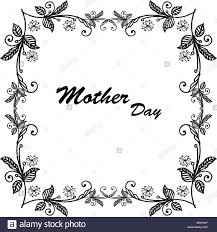 Card Frame Design Cute Template Frame Design For Greeting Card Mother Day