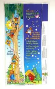 Details About Possibilities For Avlyn Tiny Teddys Growth Chart Fabric Panel Uncut Diy