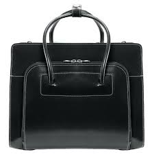w series lake forest leather briefcase in black womens laptop