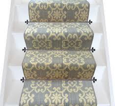 patterned stair carpet. Axminster Carpets Royal Borough Decorative Chelsea Steel Mid Grey Stair Runner (per M) - Patterned Carpet R