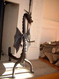 andirons and fireplace tools
