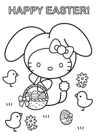 easter coloring templates. Contemporary Easter Hello Kitty Happy Easter Coloring Page Intended Coloring Templates B