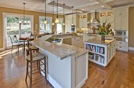 stylish matching chandelier and island light traditional kitchen with diy box beam ceiling breakfast nook