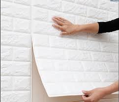 wall stickers self adhesive foam brick