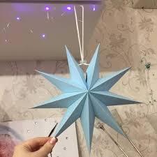 senarai harga 1pc 30cm folded paper star lanterns 3d hanging paper stars for wedding birthday evening party daily decoration window decoration terbaru di
