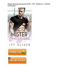 INVESTMENT) Download Mister Bodyguard Ivy Oliver ebook eBook PDF