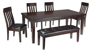 Kitchen Table Chair Set Signature Design By Ashley Haddigan 6 Piece Rectangular Dining