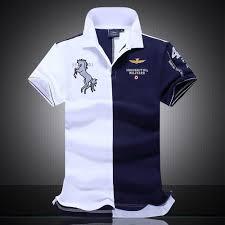 <b>Fashion Men's Sports</b> Cotton Polo T-Shirts Comfort Golf Clothing-Blue