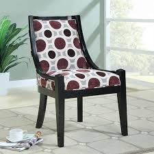 fabric accent chairs. Simple Fabric Circle Pattern Fabric Accent Chair To Chairs
