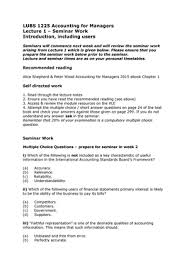 Tutorial work - 1-4 - questions with answers - LUBS1225: Accounting ...