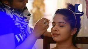 actress sruthi nair indian bridal celebrity makeup videos swayamvaram kaumudy tv beauty teacher