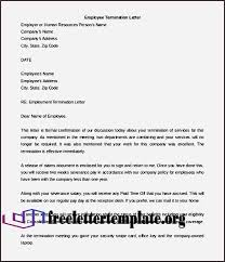 Formal Employee Termination Letter Template Download For Free | Free ...