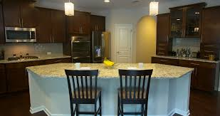 Kitchen Island Place Setting Move Away Close Up camera moves back