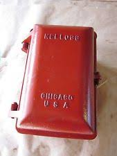 railroad telephone antique vintage cast iron police fire railroad kellogg chicago phone call box