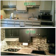 painting laminate countertops before and after cabinet paint on