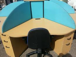 circular office desks. circular bank of 6 desksdeviders and drawer pedestals office desks