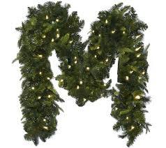 Bethlehem Lights Wreath Bethlehem Lights 9 Mixed Greens Prelit Holiday Garland