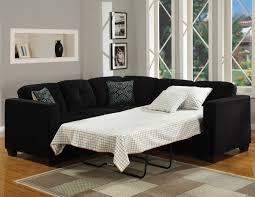 Sleeper Sofa Sectional Small Space Formidable Black Design