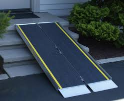 image of diy handicap ramp over stairs