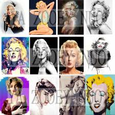 Free Marilyn Monroe Embroidery Designs Marilyn Monroe Fashion Ladies Round Diamond Embroidery Sets Beauty Character Sexy Art 3d Diy Diamond Paintings Home Decor K1201